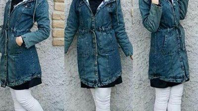 Uzun Kot Ceket Tesettür Kombinleri