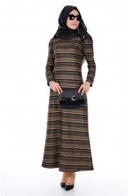iki renkli çizgili uzun elbise