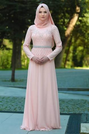 pudra rengi söz elbisesi