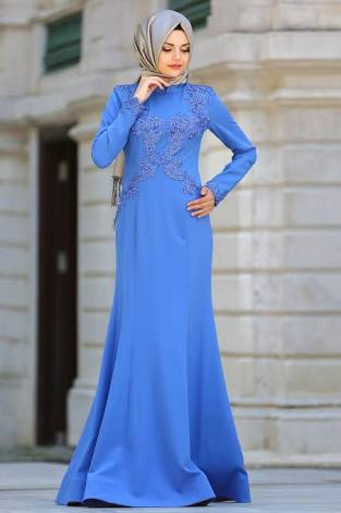 saks mavisi söz elbisesi modeli