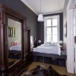 dar yatak odası yerleşimi