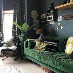 haki yeşili salon dekorasyon modelleri