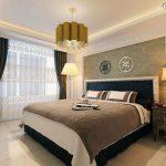ince uzun yatak odası dekorasyonu