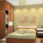 ince uzun yatak odası yerleşimi