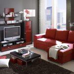 kırmızı siyah salon dekorasyonu