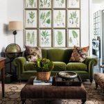 Dekorayon kahverengi ve yeşil uyumu dekorasyon