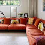Renkli kirlentli kiremit rengi ev dekorasyonu