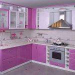 lavanta rengi mutfak dolapları