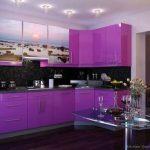 lila rengi mutfak dekorasyonu