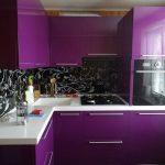 mürdüm rengi mutfak dolapları modelleri