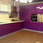 mor mutfak dekorasyonu