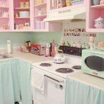 pembe mutfak dolapları dekorasyonu