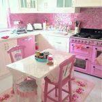 pembe mutfak masası modelleri