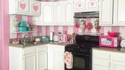 Pembe Renkli Mutfak Modelleri/ Dekorasyonu