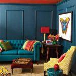 Koyu petrol mavisi duvar boyası