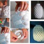 plastik kaşık ile avize yapma