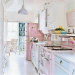 pudra pembe mutfak dekorasyonu