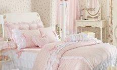 Pembe Beyaz Yatak Odası Dekorasyonu