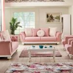 pudra renkli koltuklara duvar boyası