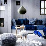 saks mavisi koltuk dekorasyonu