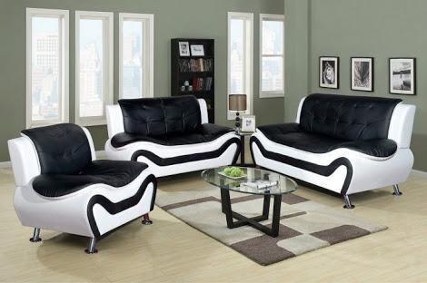 siyah beyaz koltuk takımı
