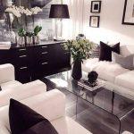 siyah beyaz salon dekorasyonu