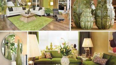 Yeşil Koltuklu Salon Dekorasyonu