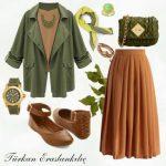yeşil ve taba kombini