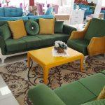 yesil ve sarı koltuk takımı