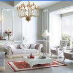 beyaz mobilyali salon dekorasyonu