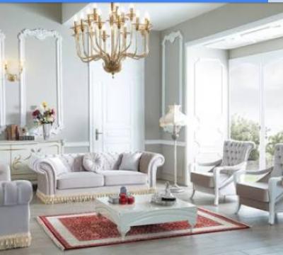 Beyaz Mobilyalı Salon Dekorasyonu