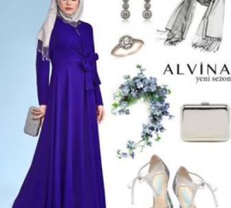 Saks Mavisi Elbise Altına Ayakkabı Seçimi