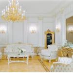 altın sarısı beyaz mobilya