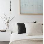 bej rengi yatak odası tekstil