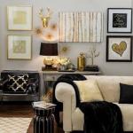 gold siyah ve beyaz dekorasyon