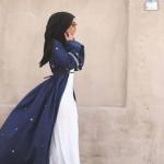 lacivert abaya modelleri