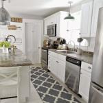 mutfak halısı siyah beyaz