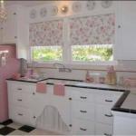 pembe beyaz mutfak perdesi