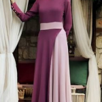 pudra gül kurusu karışım elbise modelleri