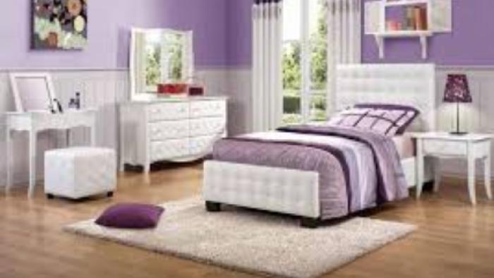 Mor Beyaz Yatak Odası / Dekorasyonu Modelleri