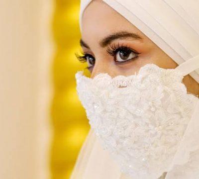 Maskeli Gelinlik Modelleri Tesettür
